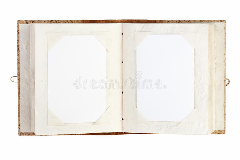 Download Open Old Photo Album With Place For Your Photos Isolated On Whit Stock Illustration - Illustration: 28723162