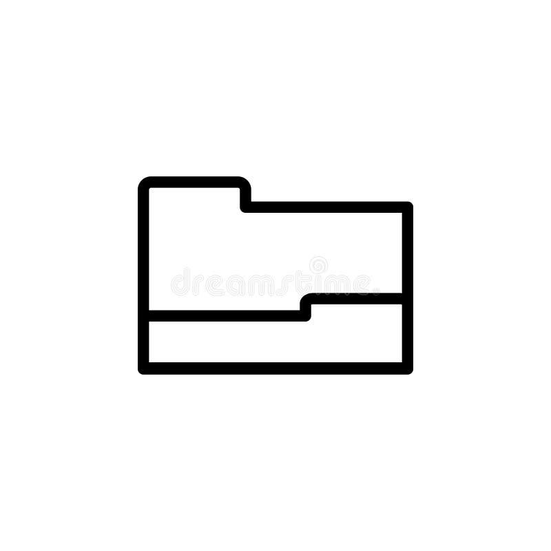 Open omslagpictogram Element van eenvoudig pictogram voor websites, Webontwerp, mobiele app, informatiegrafiek Het dikke lijnpict vector illustratie