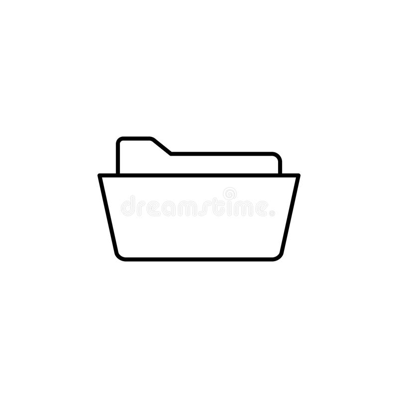 Open omslagpictogram Element van eenvoudig pictogram voor websites, Webontwerp, mobiele app, informatiegrafiek Het dunne lijnpict royalty-vrije illustratie