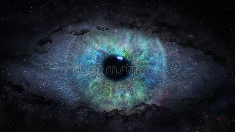 Open oog in ruimte vector illustratie