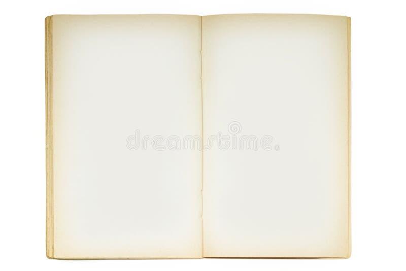 Open oud leeg boek stock foto