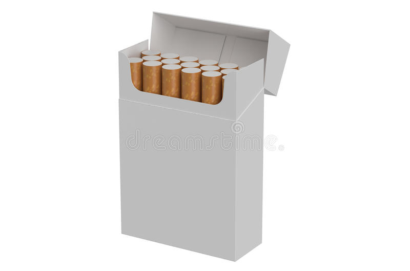 Open pack of cigarettes royalty free illustration