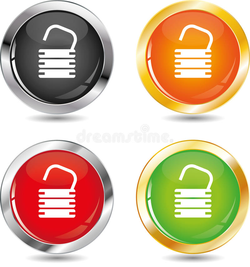 Download Open padlock stock vector. Illustration of safe, chrome - 16613064