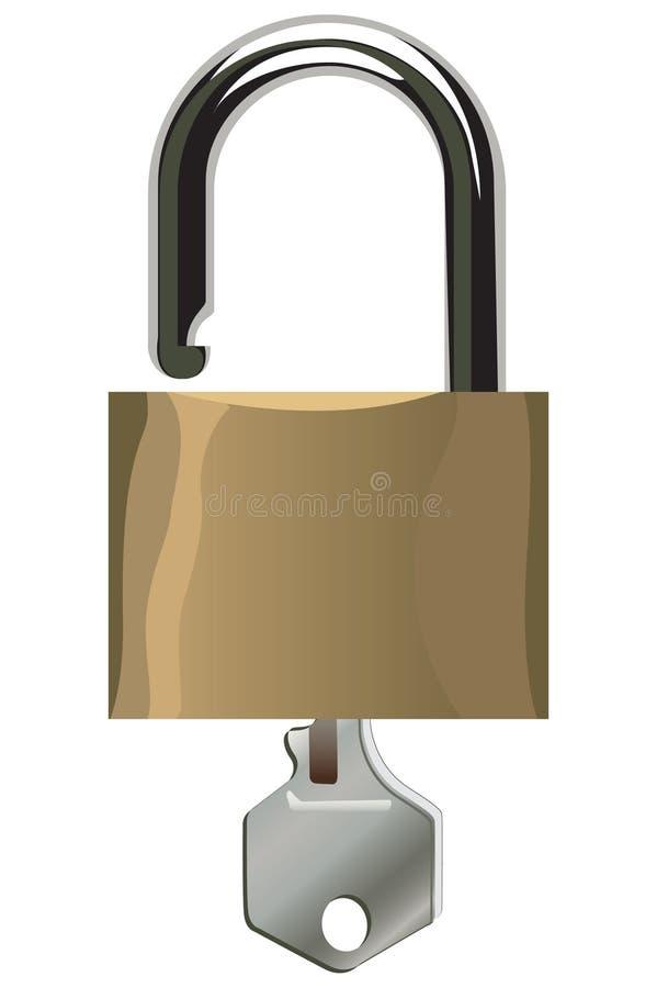 Open padlock vector illustration