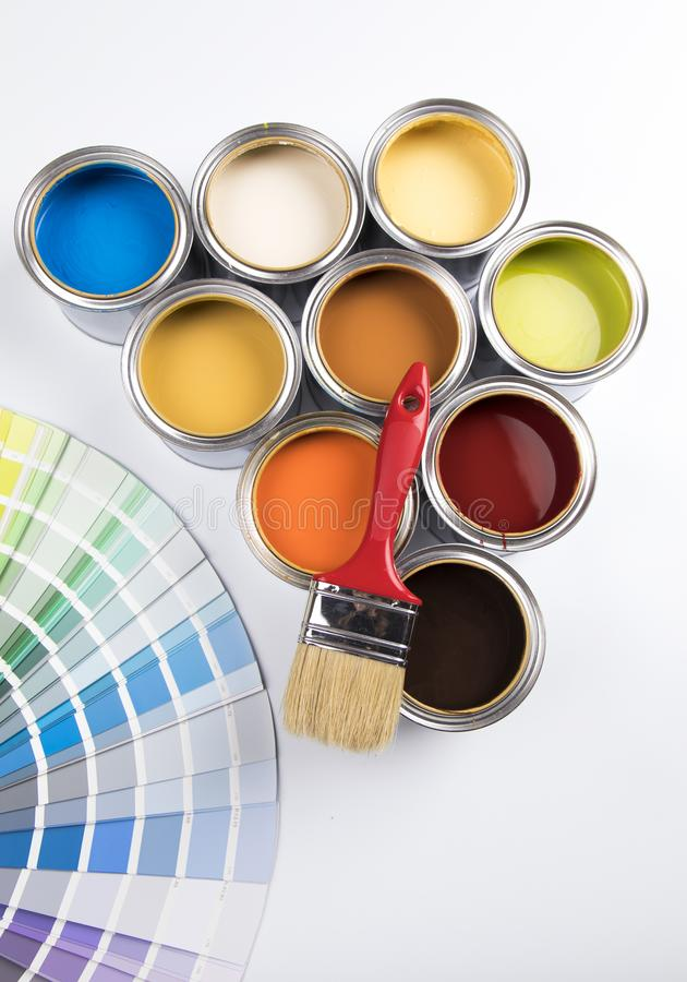 Color palette, can background royalty free stock images