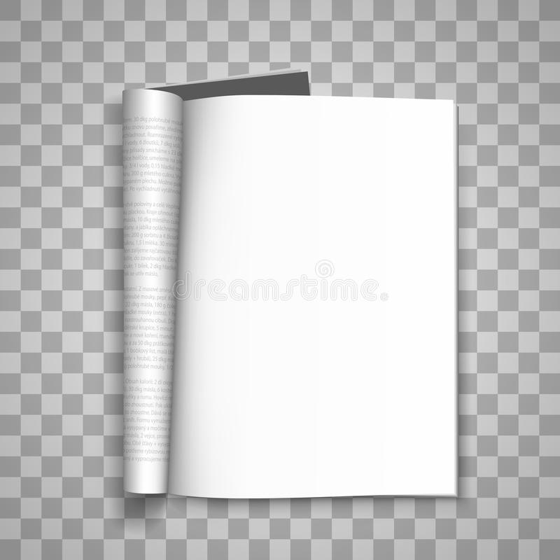download open the paper journal paper journal blank magazin transparent background page template