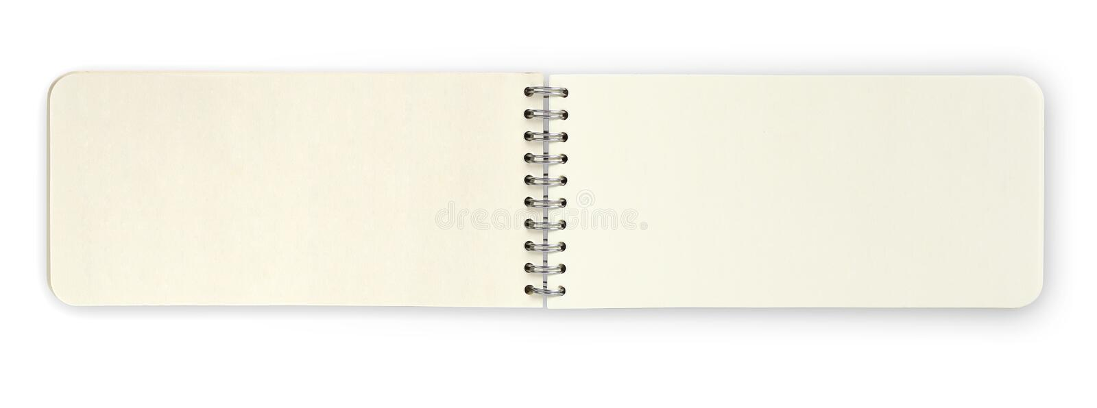Open paper note book isolated over white background, clipping pa royalty free illustration