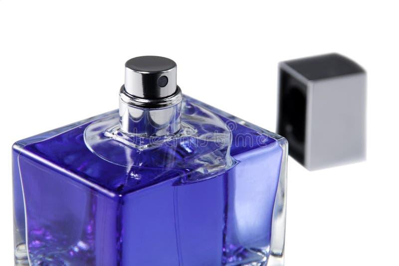 Open parfum en deksel stock fotografie