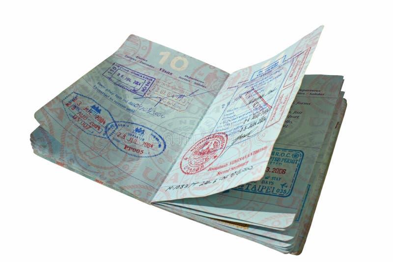 Open Paspoort met Aziatische Visa royalty-vrije stock foto
