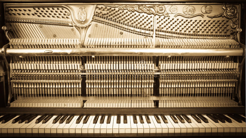 On open piano royalty free stock photography