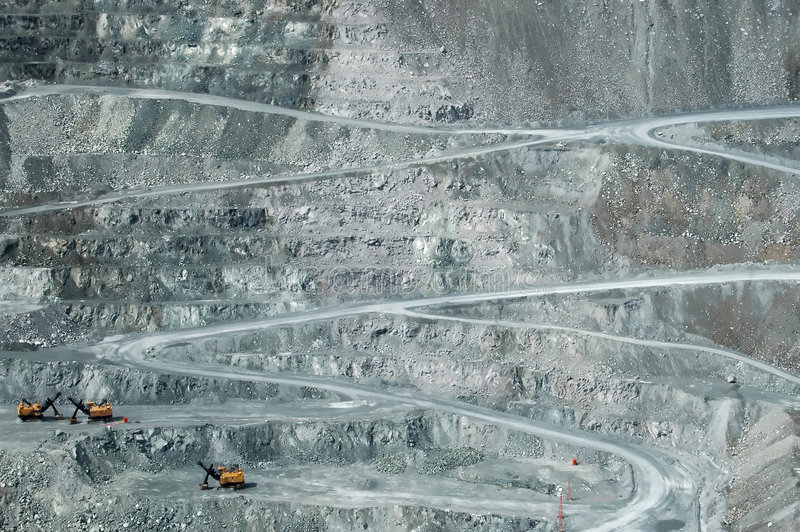 Open Pit. Mining, Thetford Mines, Quebec royalty free stock photography