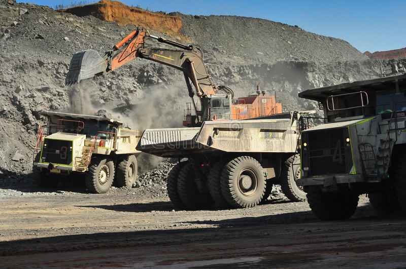 Open pit coal mine royalty free stock image