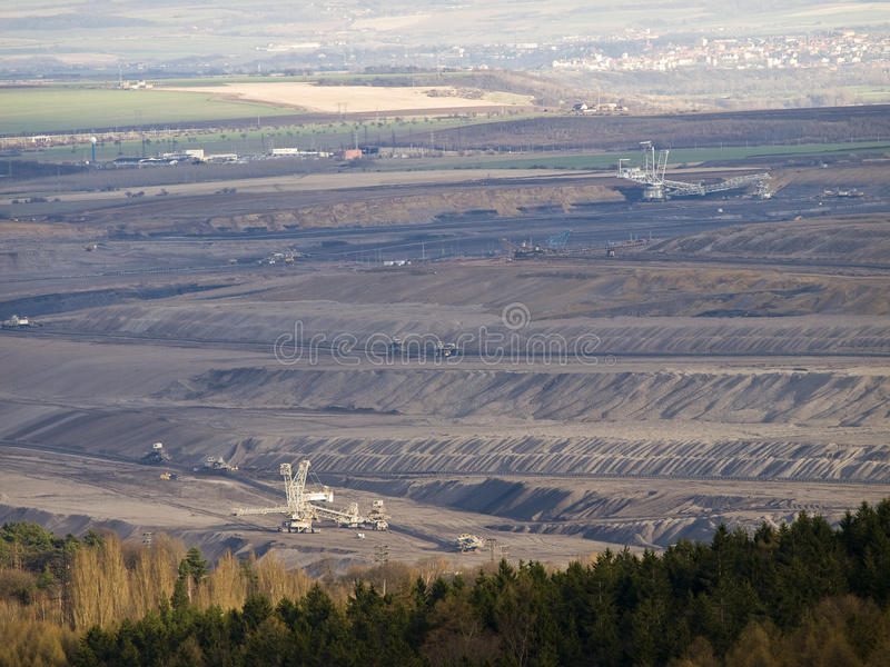 Download Open pit coal mining stock photo. Image of landscape - 14861920