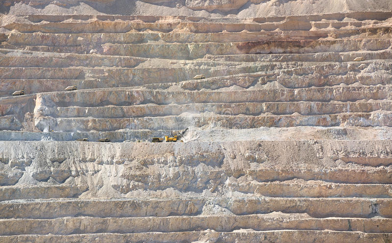 Open pit copper mine stock photography