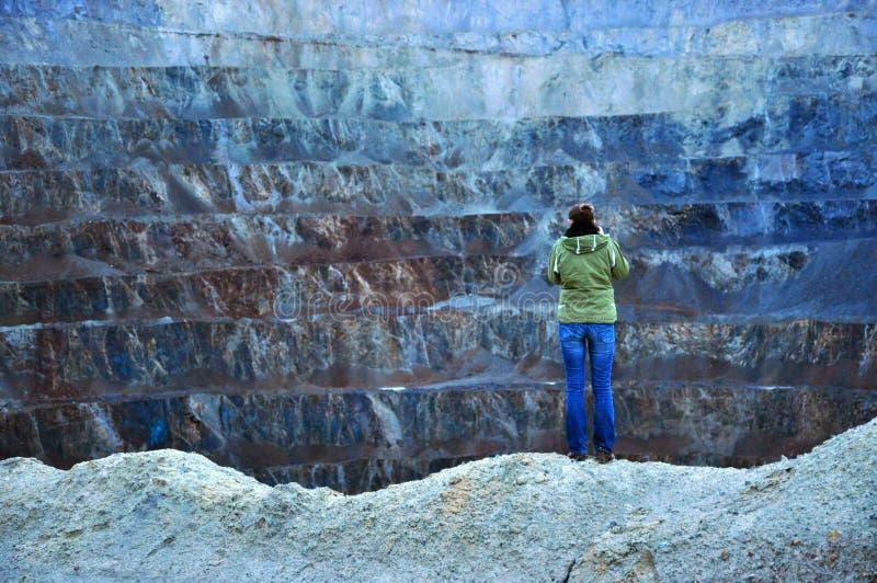 Open pit gold mine. Rosia Montana, Romania stock photo