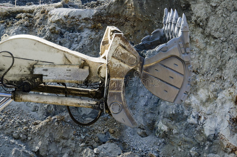 Open pit machinery. Closeup of the open pit machinery royalty free stock image