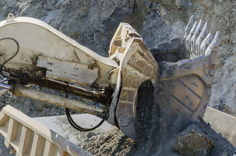 Open pit machinery. Closeup of the open pit machinery stock photo