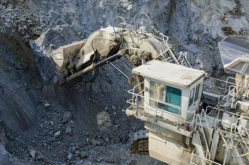 Open pit machinery. View of the open pit machinery stock photos