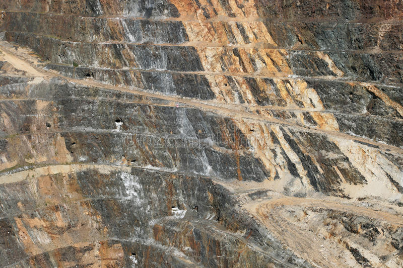 Open pit mine stock image