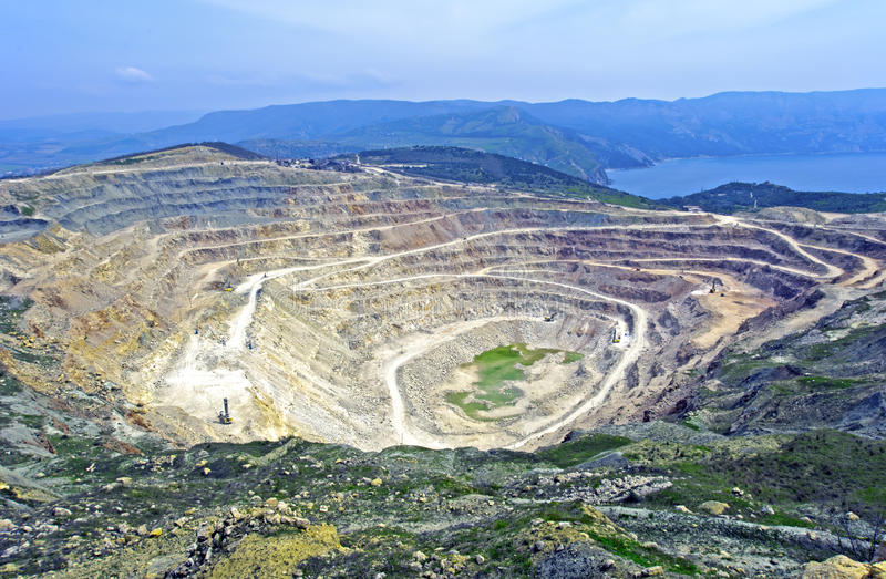 Download Open pit mine stock image. Image of earth, open, construction - 19605843
