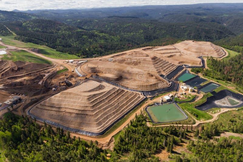 Open Pit Mine royalty-vrije stock afbeeldingen