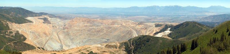 Open pit mine. Open pit copper mine stock photo