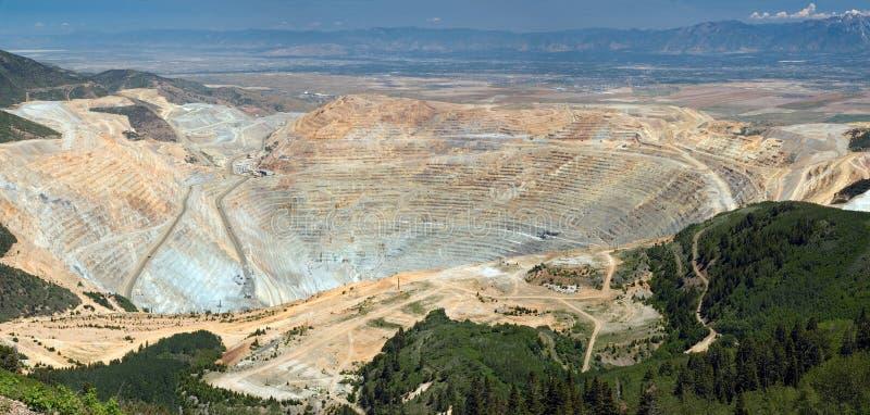 Open pit mine. Open pit copper mine stock image