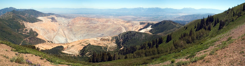 Open pit mine. Open pit copper mine stock photos