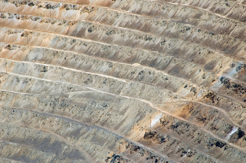 Open pit mine. Open pit copper mine royalty free stock photos