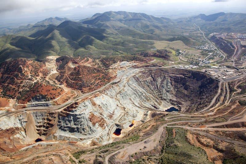Open Pit Mine. Lavender Open Pit mine in Bisbee, Arizona stock photos