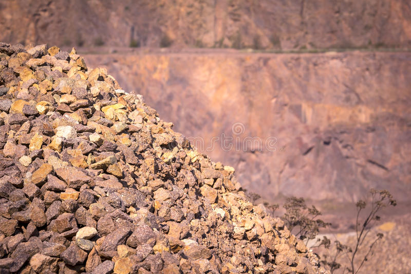 Open Pit Mine for Porphyry (Quarz Porphyr). royalty free stock photos