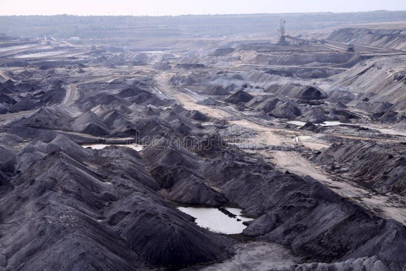 Open-pit Mine in Saxony. Damaged Landscape - Coal Mining near Leipzig. Germany stock photography