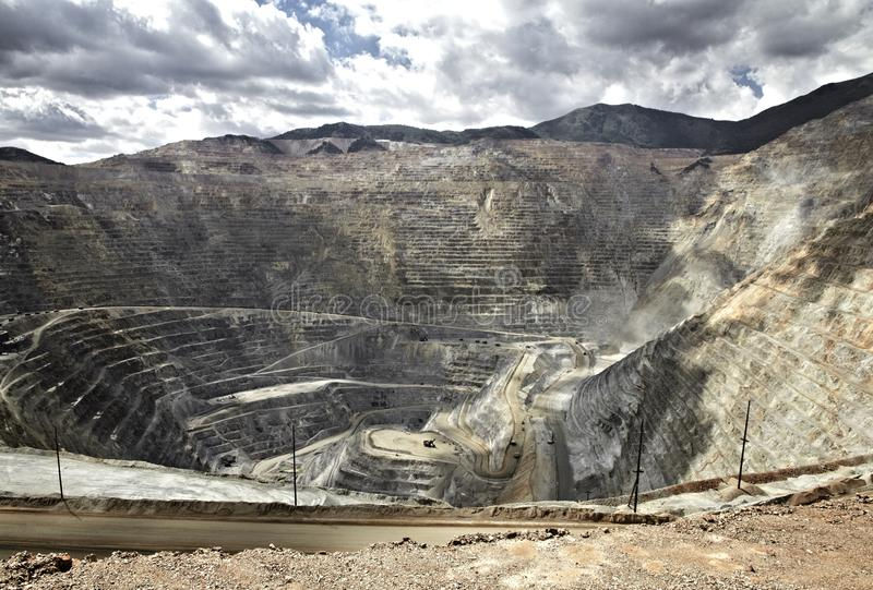 Open pit mine, Utah, United States. Open pit mine in Utah, United States royalty free stock photos