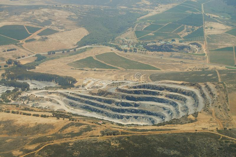 Open Pit. In South Africa royalty free stock photo
