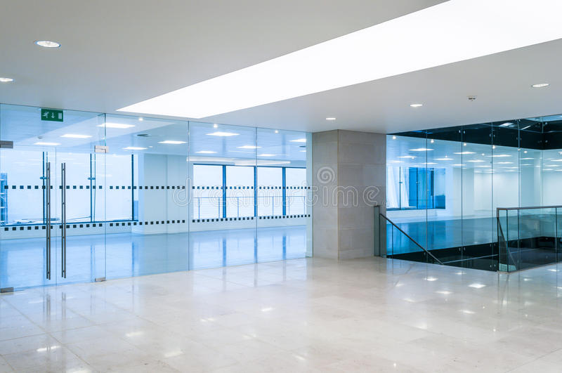 Open plan emty office stock photography