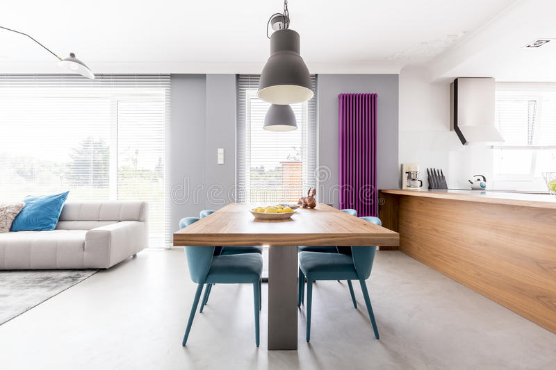 Open plan family living-space royalty free stock photography