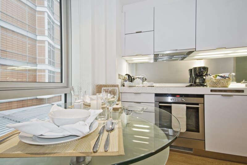 Open plan kitchen stock photo