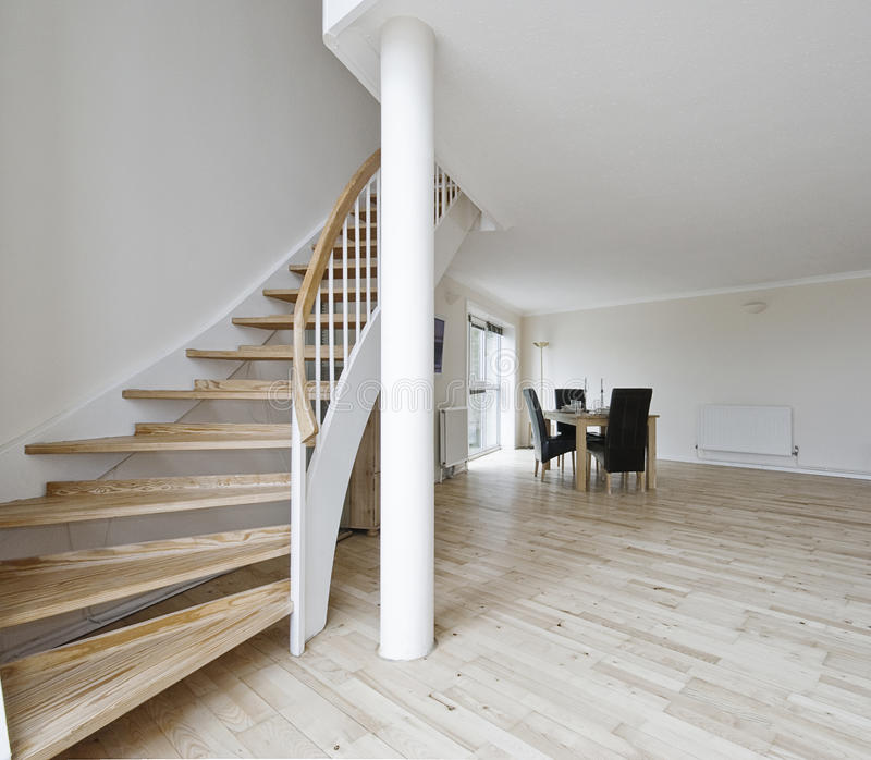 Download Open Plan Living Room With Staircase Stock Image - Image: 12194575