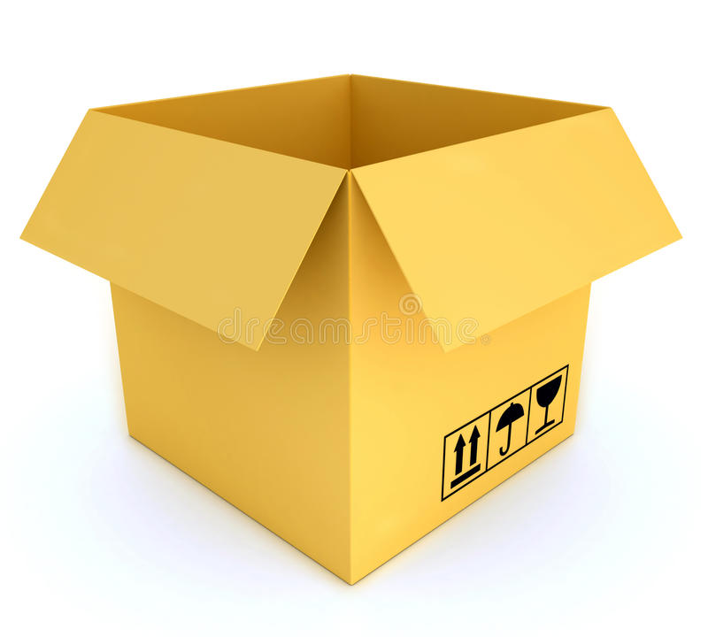 Download Open post box stock illustration. Image of post, cargo - 29320271