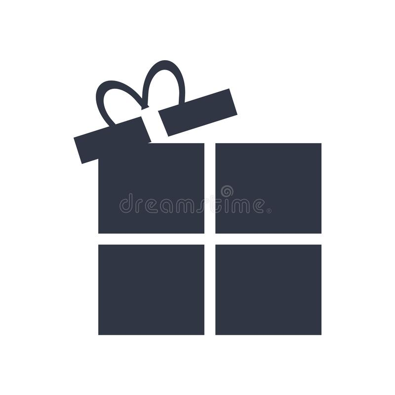 Open Present Box icon vector sign and symbol isolated on white background, Open Present Box logo concept royalty free illustration