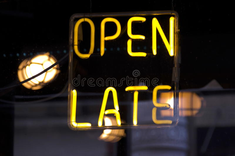 Open Recent Neon stock fotografie