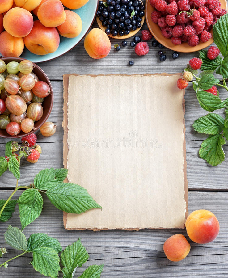 Open recipe book with fresh fruits and berries on wooden background download open recipe book with fresh fruits and berries on wooden background stock image forumfinder Choice Image