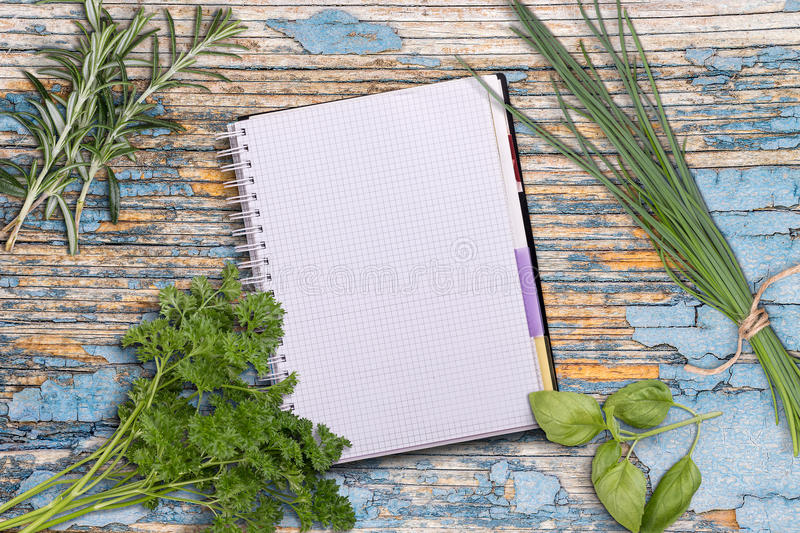 Open recipe book royalty free stock image