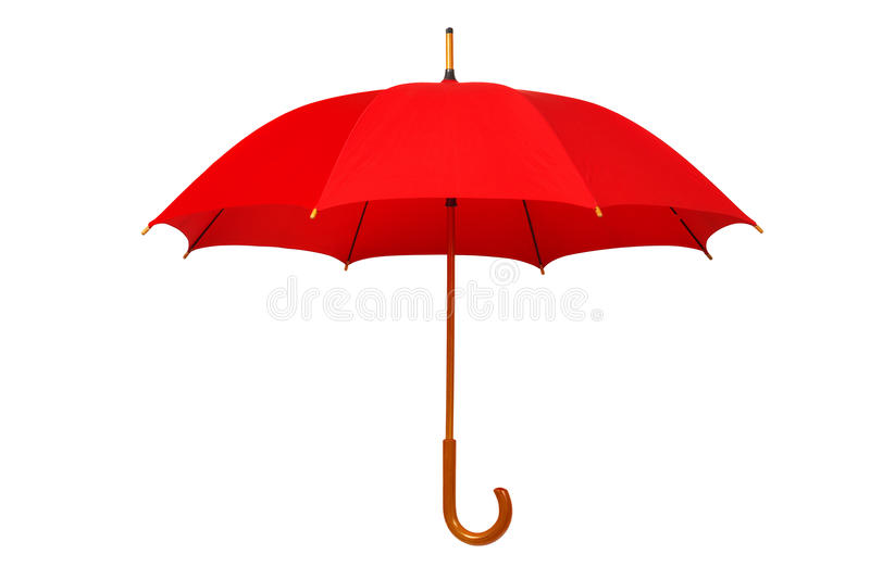 Open red umbrella stock images