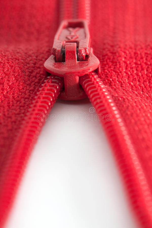 Download Open red zipper stock photo. Image of reveal, closed - 12014390