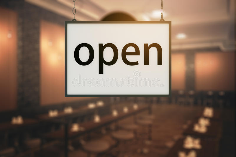 Open restaurant royalty free illustration