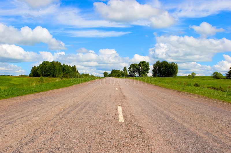 Open road royalty free stock photo