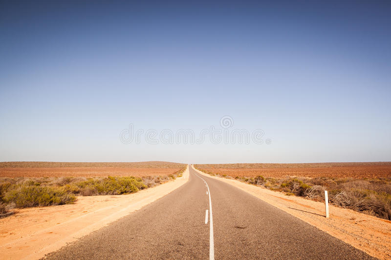 Open Road In Australian Outback. On the road through the western australian outback royalty free stock images