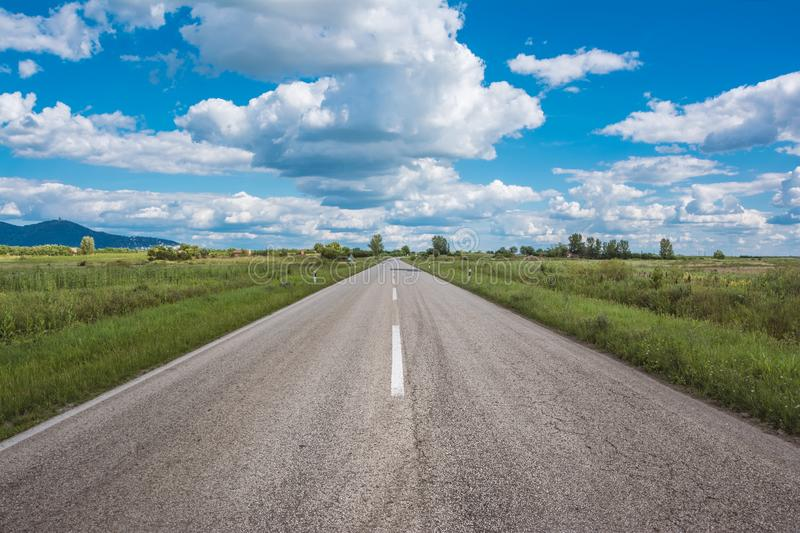 Open road Vrsac Serbia Europe. This is a picture of open road near city of Vrsac Serbia Europe stock photography