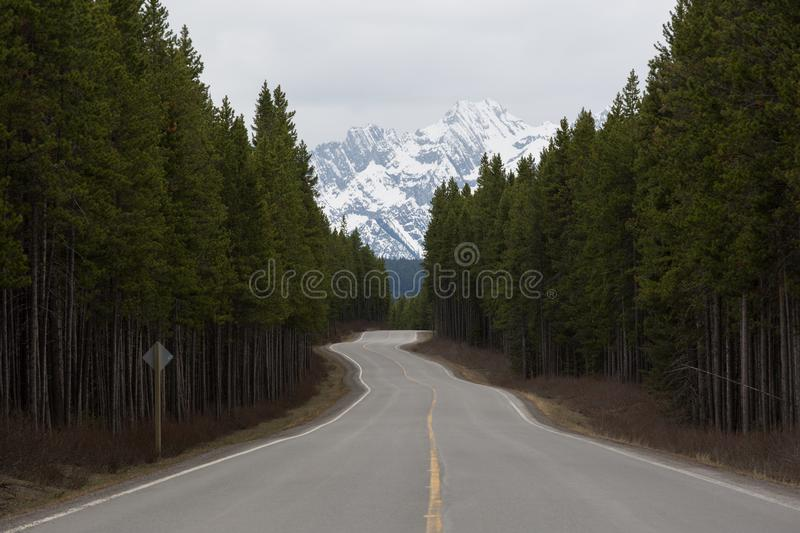 Open roads in Canada stock photo